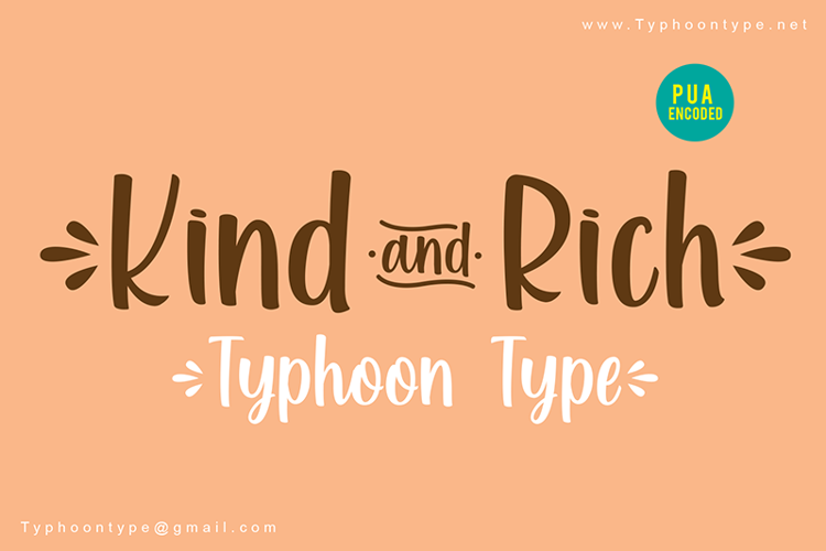 Kind and Rich - Font
