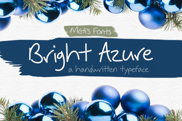 Bright Azure Font