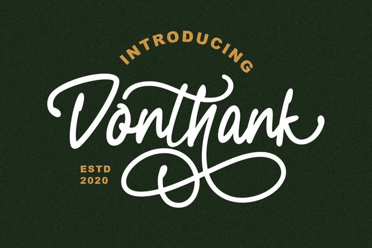 Donthank Font