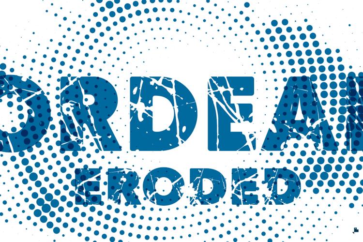 Ordeal Eroded Font