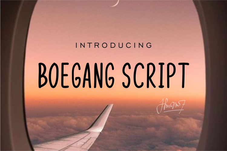 Boegang Script Font