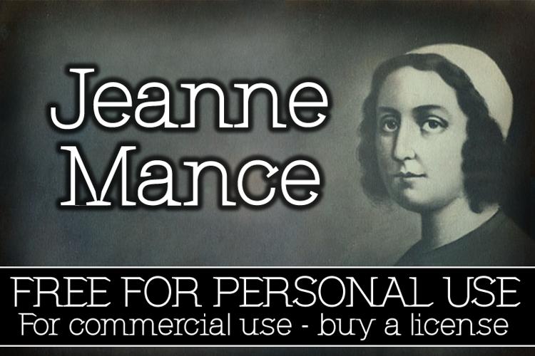 CF Jeanne Mance Font