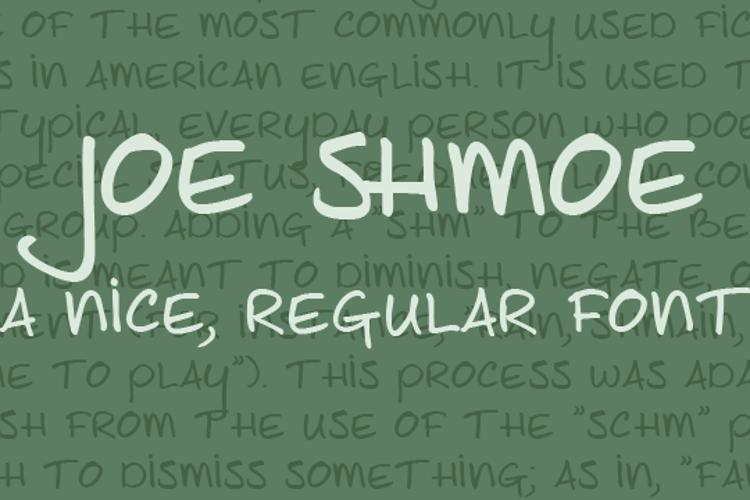 Joe Shmoe Font