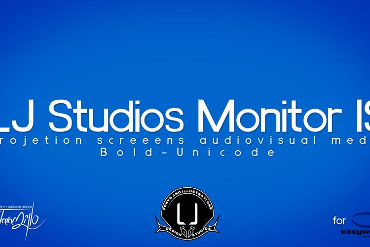 LJ Studios Monitor Large IS Font