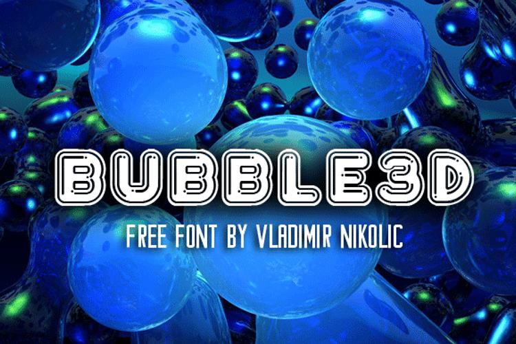 Bubble3D Font