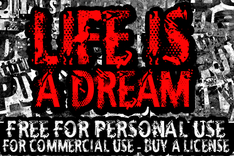 CF Life Is A Dream Font