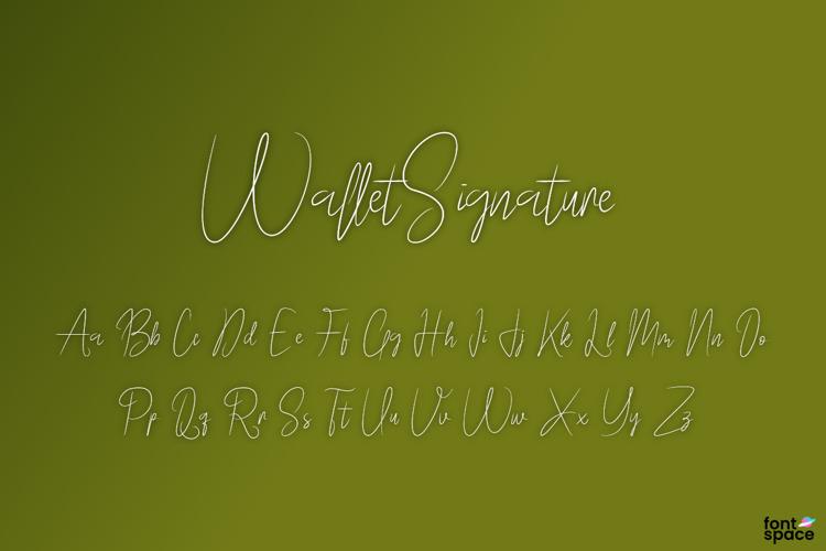Wallet Signature Font