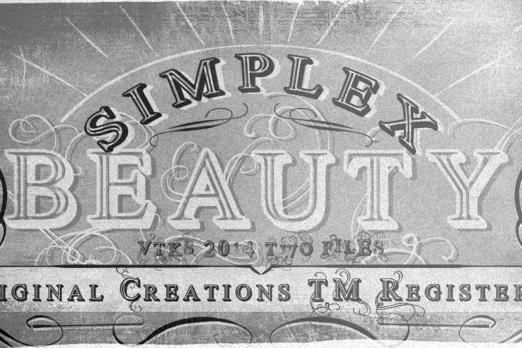 Vtks Simplex Beauty 2 Font