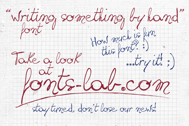 writing something by hand_FREE- Font