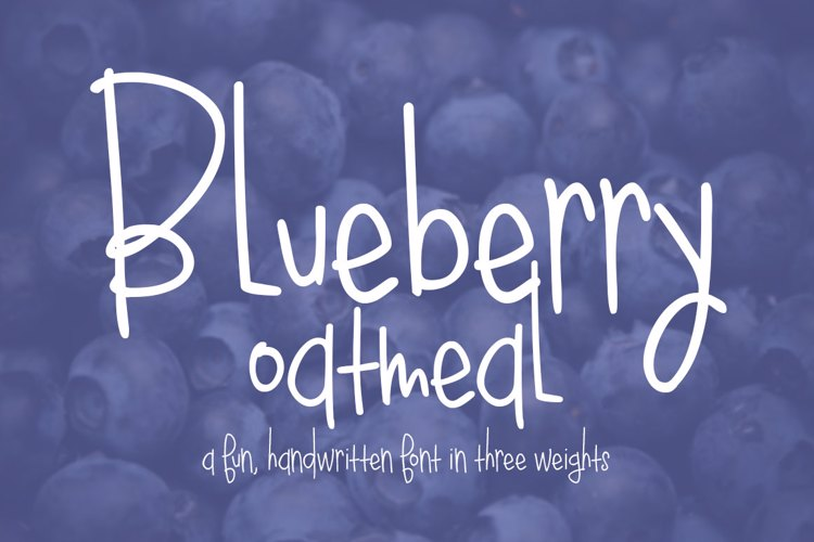 Blueberry Oatmeal Font