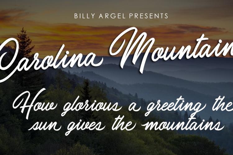 Carolina Mountains Font