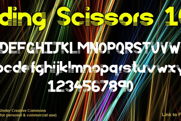 Sliding Scissors 101 Font