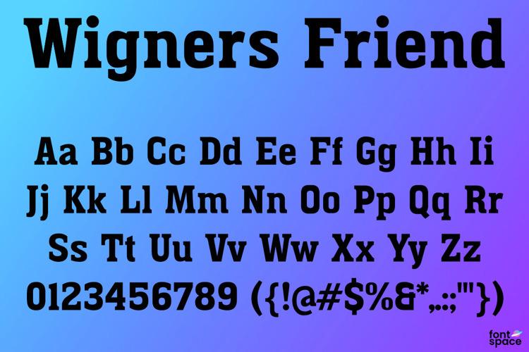 Wigners Friend Font