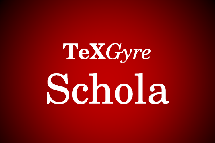 TeXGyreSchola Font