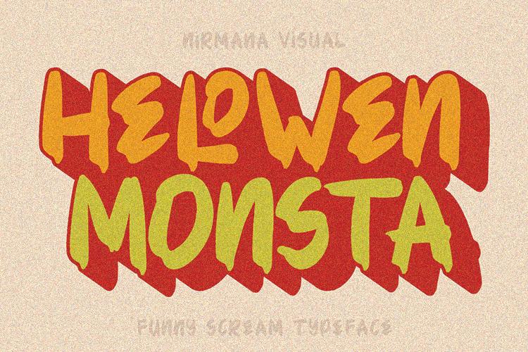 HELOWEN MONSTA Font