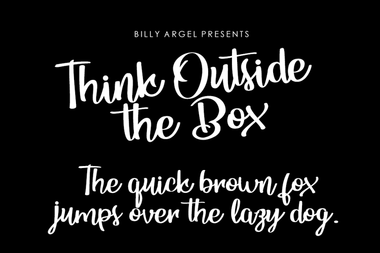 Think Ouside the Box Font