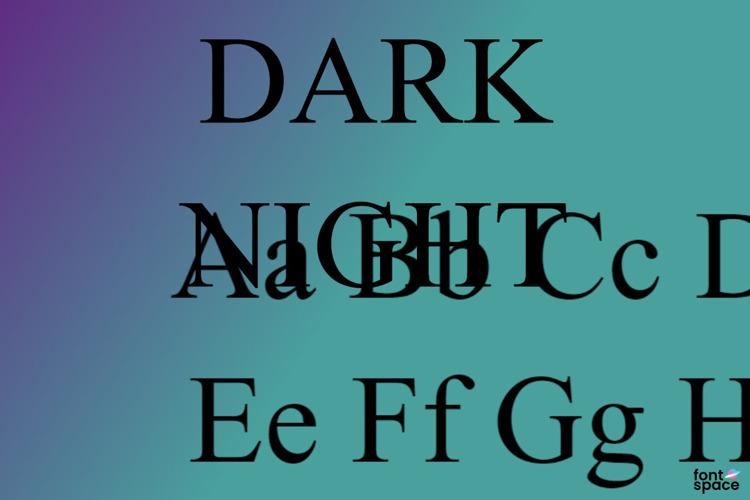 DARK NIGHT Font