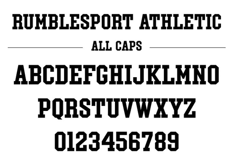Rumblesport Athletic Font