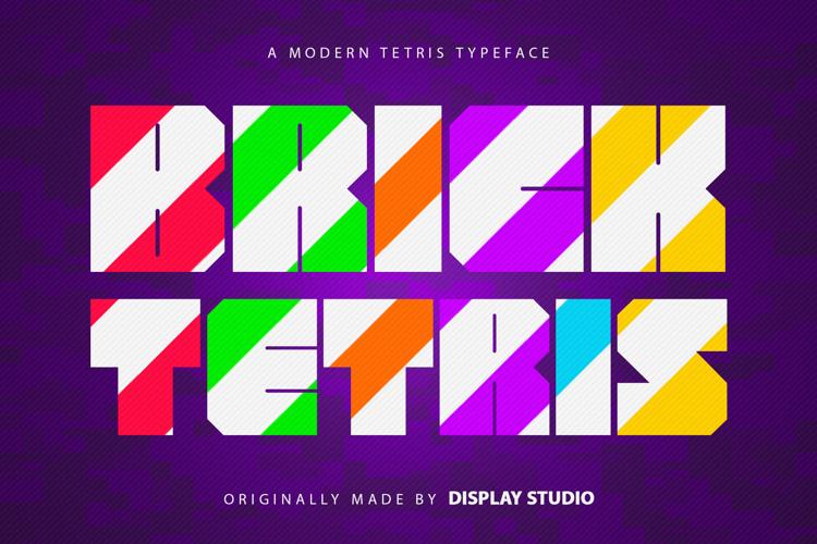 Brick Tetris Font