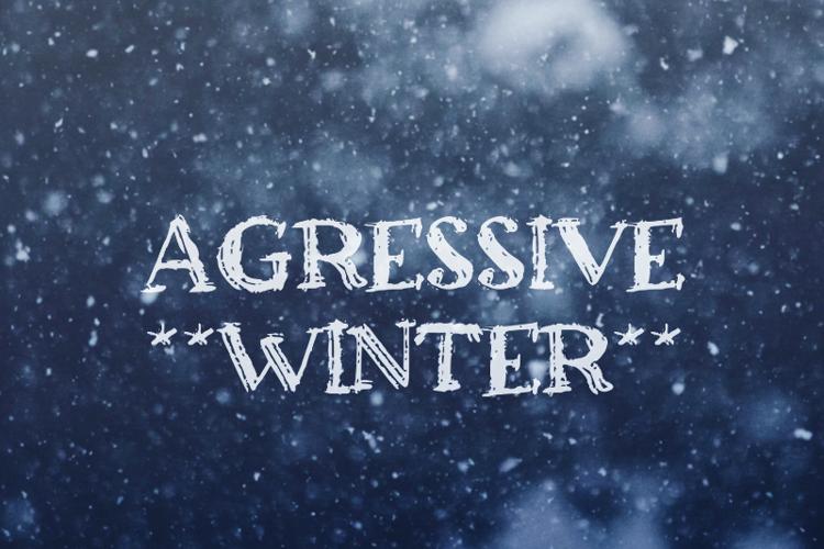 a Agressive Winter Font