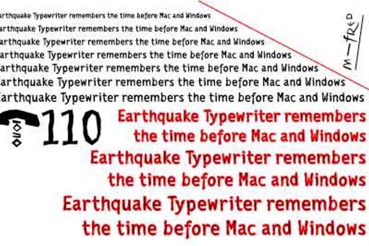 EarthquakeTypewriter Font
