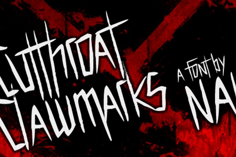 Cutthroat Clawmarks Font