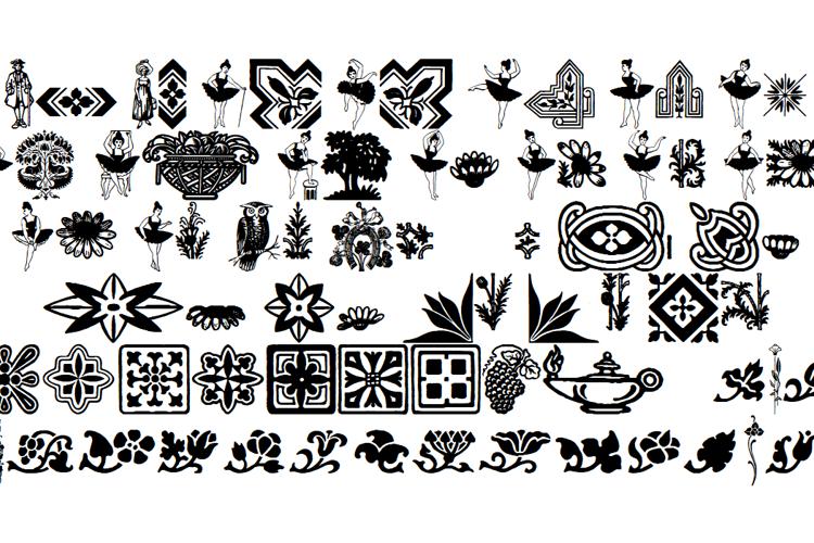 Florets and Embellishments Font