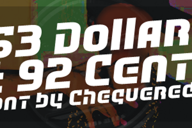53 Dollars And 92 Cents Font