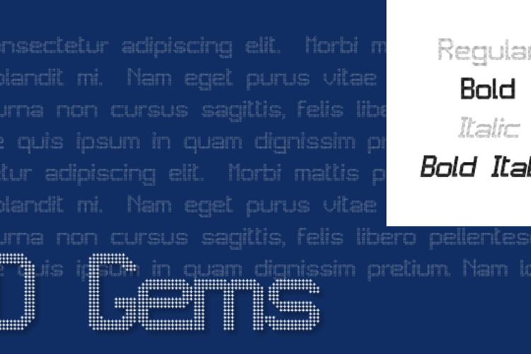 JD Gems Font