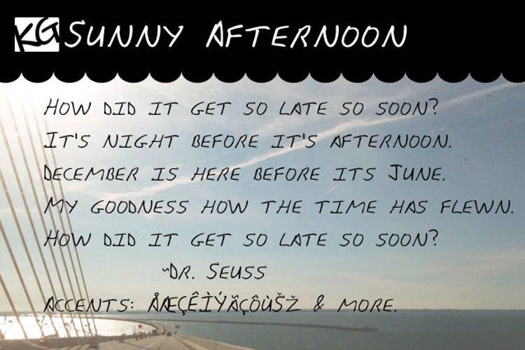 KG Sunny Afternoon Font
