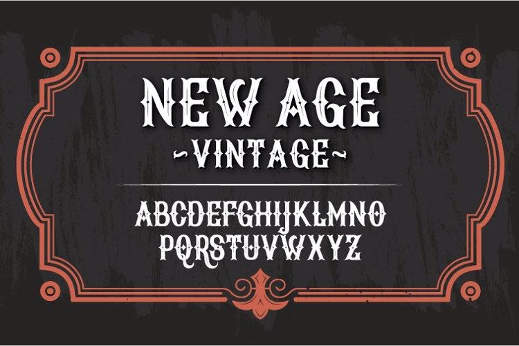New Age Vintage Font