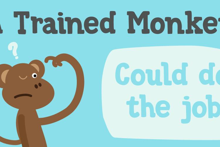 DK Trained Monkey Font