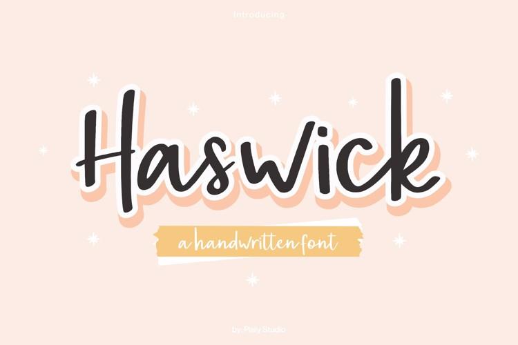 Haswick Font