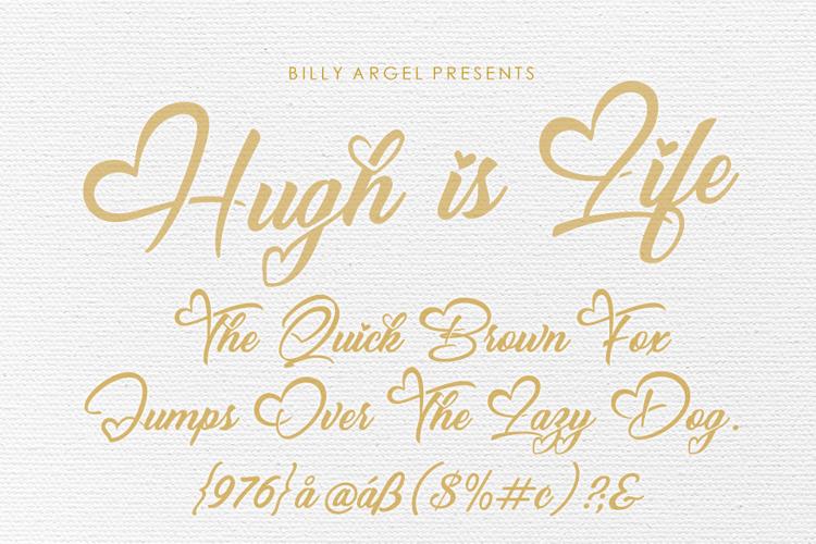 Hugh is Life Font