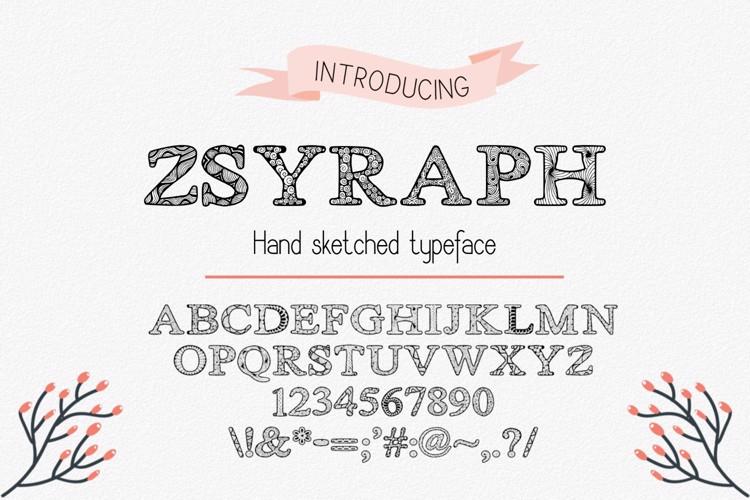 Zsyraph Font