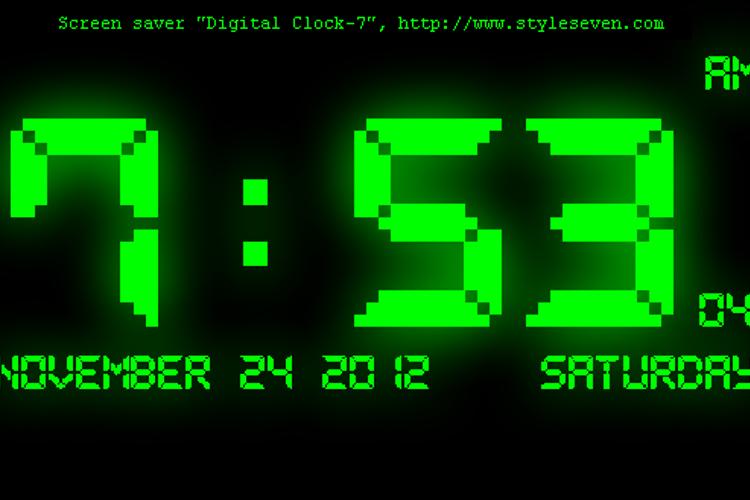 Pixel LCD7 Font