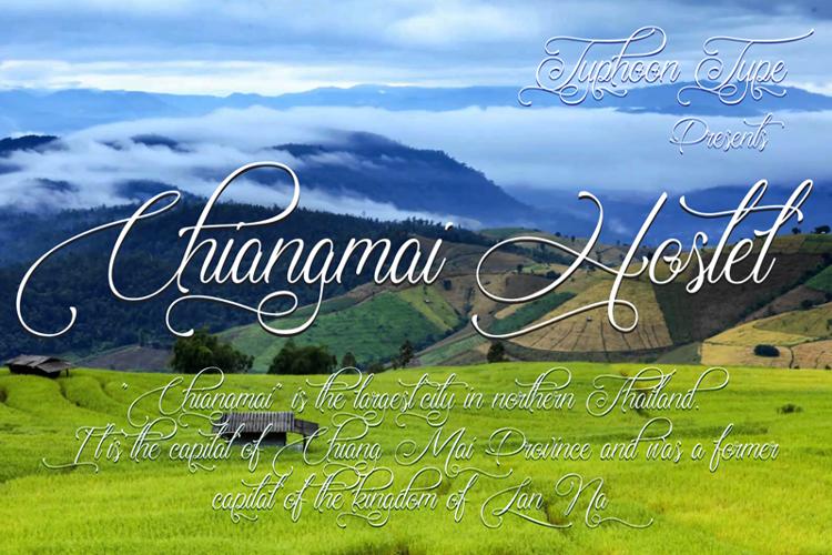 Chiangmai Hostel Font