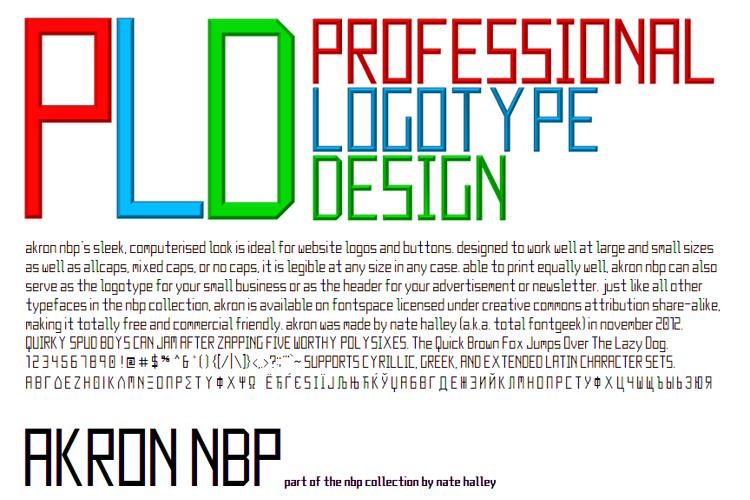 Akron NBP Font