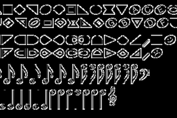 NoteHedz Font