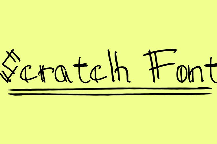 Sctatch Font