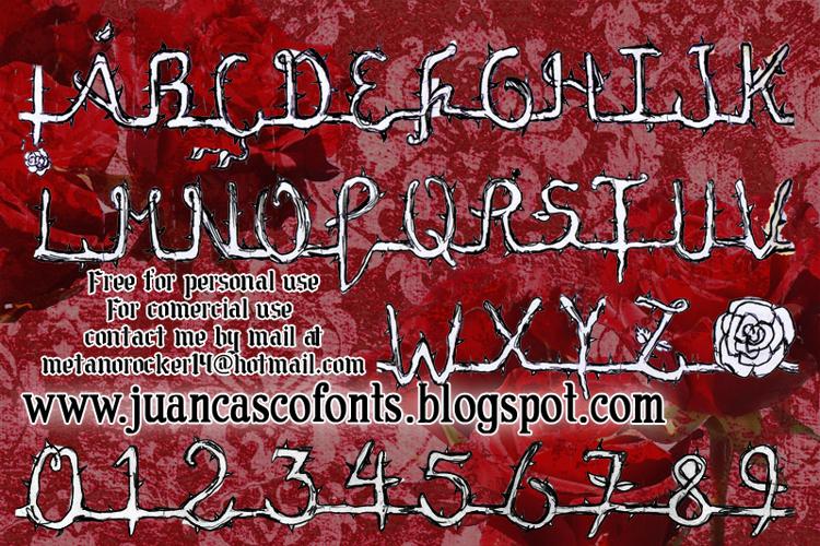 La Rosa Muerta Font