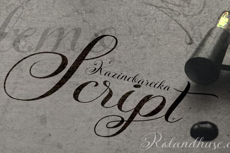 KazincBarcika Script Demo Font
