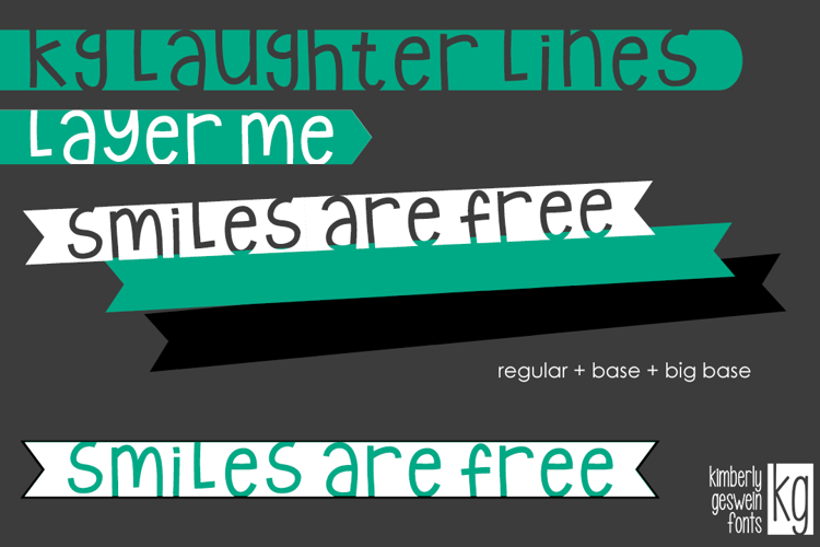 KG Laughter Lines Font