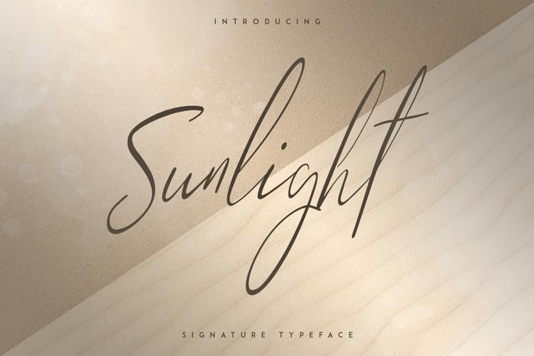 SUNLIGHT - SIGNATURE TYPEFACE Font