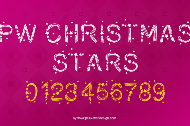 PWChristmasStars Font
