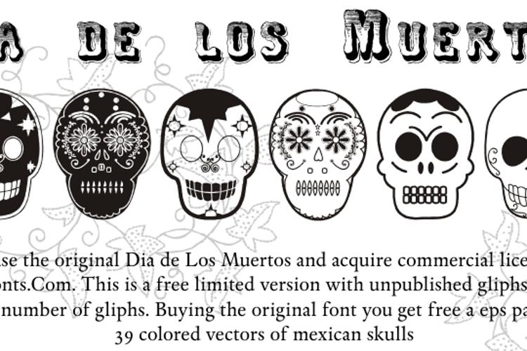 Dia de los Muertos Limited Free Font