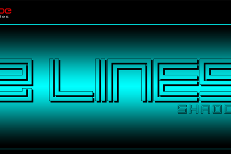 2 Lines shadow Font