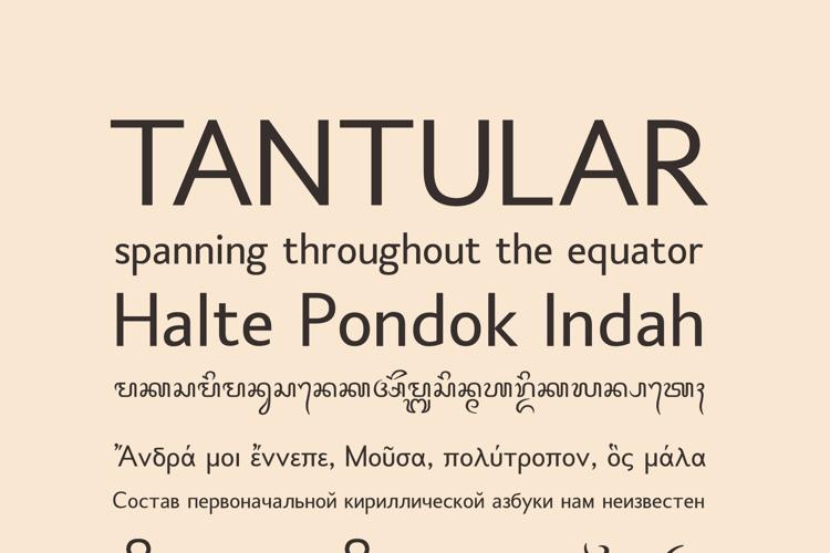 Tantular Font