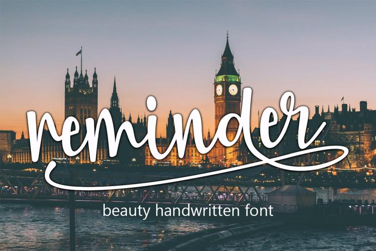 Reminder Font