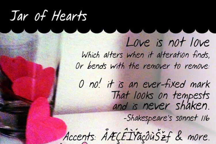 Jar of Hearts Font
